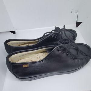 SAS siesta women's black lace shoe 8WW